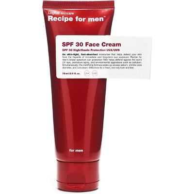 Recipe for Men SPF 30 Face Cream - Recipe for Men