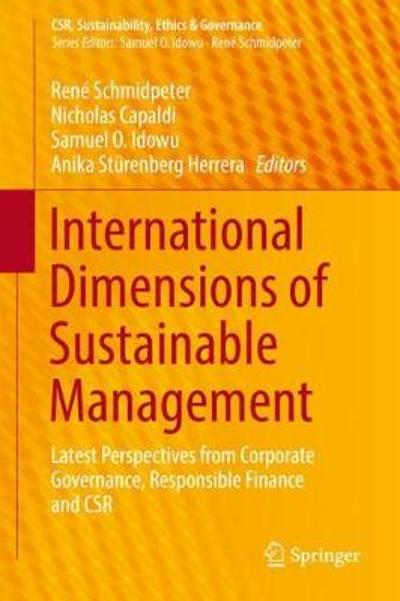 International Dimensions of Sustainable Management - Rene Schmidpeter