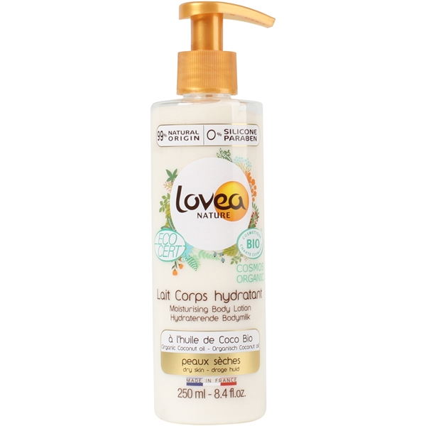0% Coconut Oil Moisturizing Body Lotion - Dry Skin - Lovea