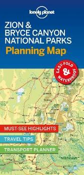 Lonely Planet Zion & Bryce Canyon National Parks Planning Map - Lonely Planet Lonely Planet