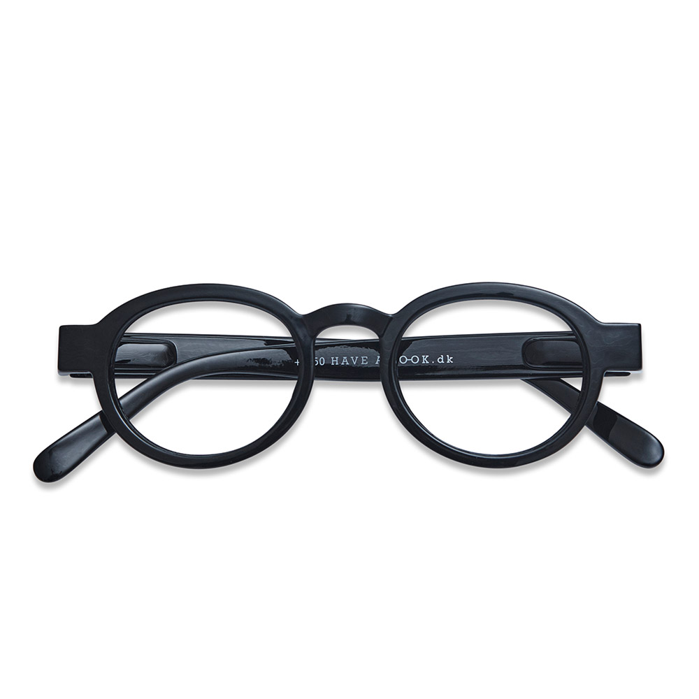 Lesebrille Circle Twist black +1 - 