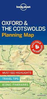 Lonely Planet Oxford & the Cotswolds Planning Map - Lonely Planet Lonely Planet