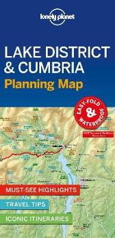 Lonely Planet Lake District & Cumbria Planning Map - Lonely Planet Lonely Planet