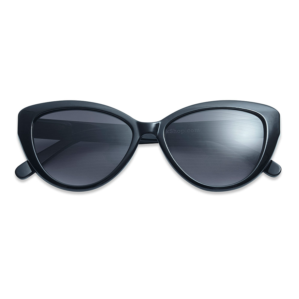Solbrille Cat Eye black +2 - 