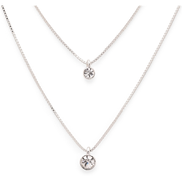 Lucia Double Crystal Necklace - Pilgrim