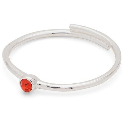 Lulu Stack Ring Red Crystal - Pilgrim