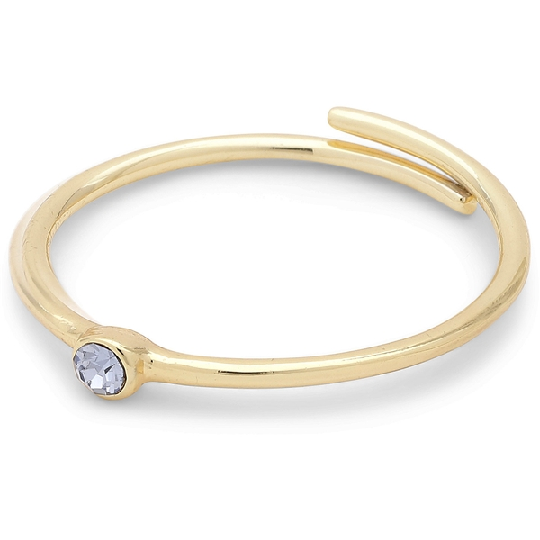 Lulu Gold Plated Stack Ring Blue Crystal - Pilgrim