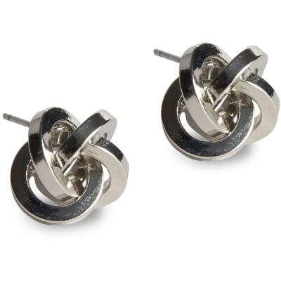 PEARLS FOR GIRLS Knot Earring Silver - PFG Stockholm
