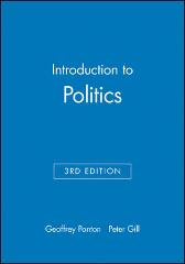 Introduction to Politics - Geoffrey Ponton Peter Gill