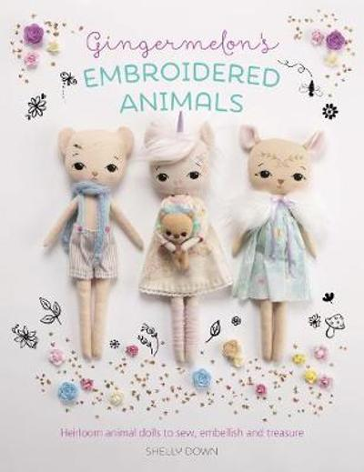 Gingermelon's Embroidered Animals - Shelly Down