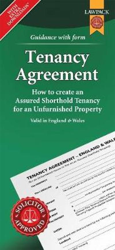 Unfurnished Tenancy Agreement Form Pack - Anthony Gold Solicitors