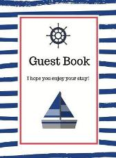 Nautical Guest Book Hardcover - Lulu and Bell