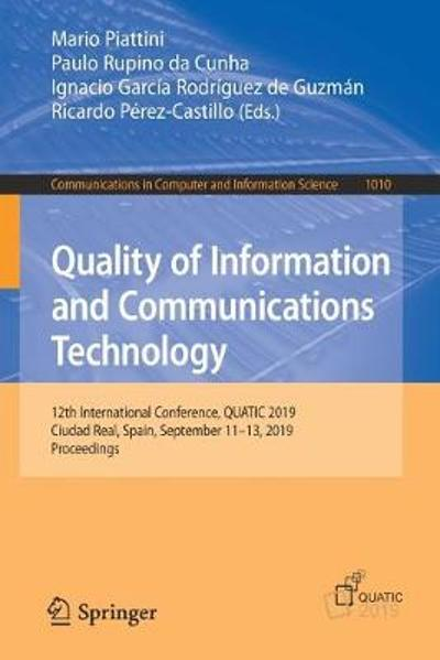 Quality of Information and Communications Technology - Mario Piattini