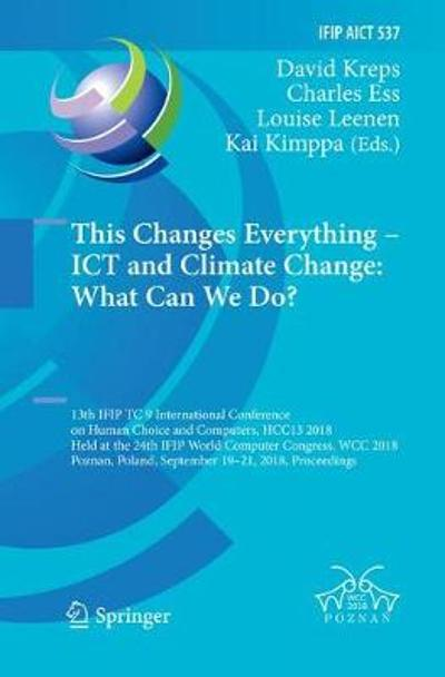 This Changes Everything - ICT and Climate Change: What Can We Do? - David Kreps