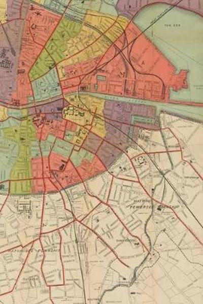 1915 Map of the city of Dublin and its environs - A Poetose Notebook / Journal / Diary (50 pages/25 sheets) - Poetose Press