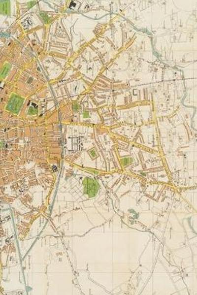 20th century large-scale plan of Dublin - A Poetose Notebook / Journal / Diary (50 pages/25 sheets) - Poetose Press