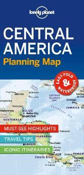 Lonely Planet Central America Planning Map - Lonely Planet Lonely Planet