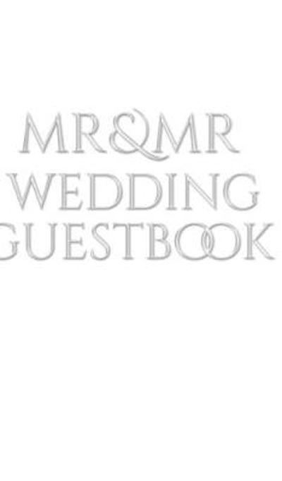 Mr and Mr wedding Guest Book - Mr