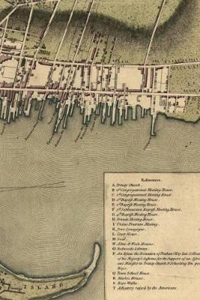 1777 plan of the town of Newport in Rhode Island - A Poetose Notebook / Journal / Diary (50 pages/25 sheets) - Poetose Press