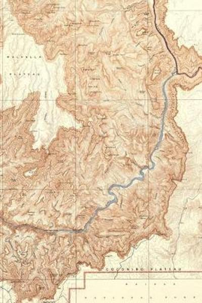 1948 Topographic map of the Grand Canyon National Park Arizona - A Poetose Notebook / Journal / Diary (50 pages/25 sheets) - Poetose Press