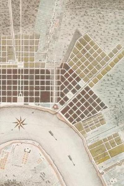 1817 Plan of the City and Suburbs of New Orleans - A Poetose Notebook / Journal / Diary (50 pages/25 sheets) - Poetose Press