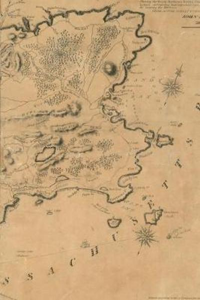 1831 Map of Gloucester, Cape Ann - A Poetose Notebook / Journal / Diary (50 pages/25 sheets) - Poetose Press