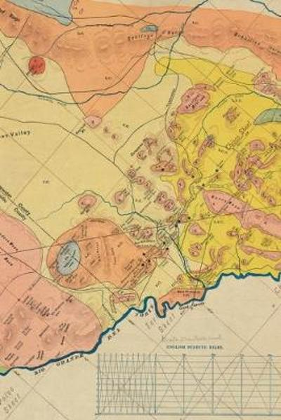 1904 Geological Map of a Portion of West Texas - A Poetose Notebook / Journal / Diary (50 pages/25 sheets) - Poetose Press