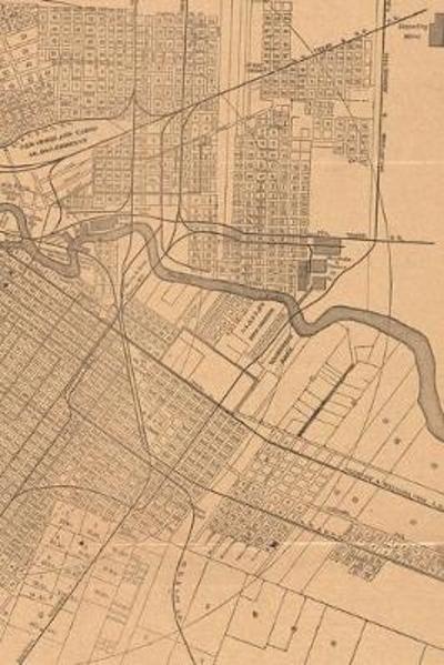 1890 Map of Houston, Texas - A Poetose Notebook / Journal / Diary (50 pages/25 sheets) - Poetose Press
