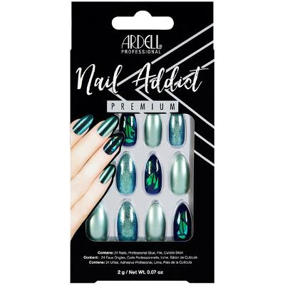 Ardell Nail Addict Green Glitter Chrome - Ardell