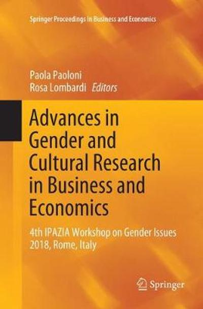 Advances in Gender and Cultural Research in Business and Economics - Paola Paoloni