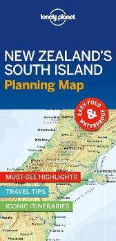 Lonely Planet New Zealand's South Island Planning Map - Lonely Planet Lonely Planet