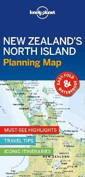 Lonely Planet New Zealand's North Island Planning Map - Lonely Planet Lonely Planet