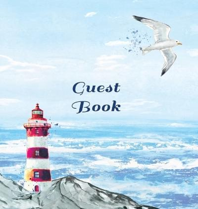 GUEST BOOK FOR VACATION HOME, Visitors Book, Beach House Guest Book, Seaside Retreat Guest Book, Visitor Comments Book. - Angelis Publications