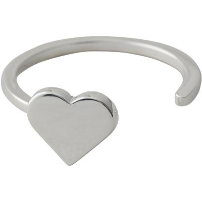 Design Letters Heart Ring Silver - Design Letters