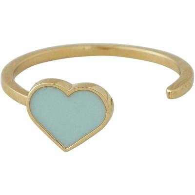 Design Letters Enamel Heart Ring Gold - Design Letters