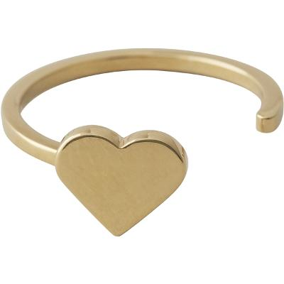 Design Letters Heart Ring Gold - Design Letters