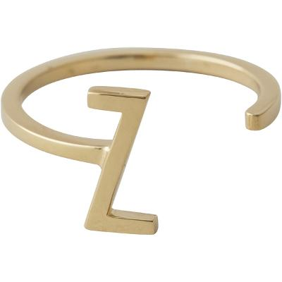 Design Letters Ring Gold A-Z - Design Letters