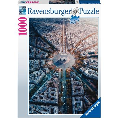 Puslespill 1000 Deler Paris From Above - Ravensburger