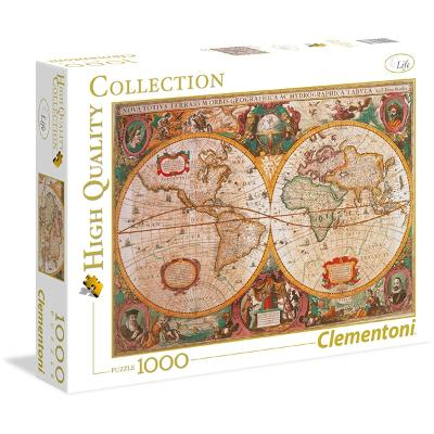 Puslespill 1000 deler Old Map - Clementoni