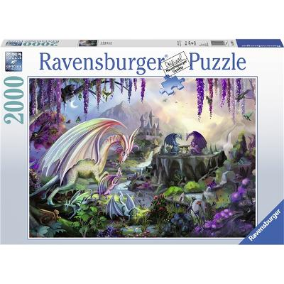 Puslespill 2000 Deler Dragon Valley - Ravensburger