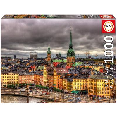 Puslespill Views of Stockholm Sweden 1000 Deler - Educa