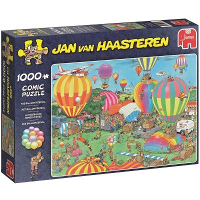 Puslespill 1000 deler - The Balloon festival - Jan Van Haasteren