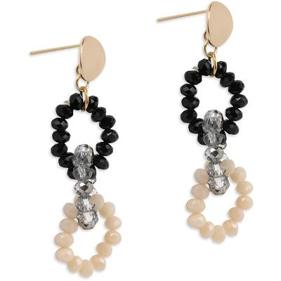 PEARLS FOR GIRLS Happy Chain Grey Earring - PFG Stockholm