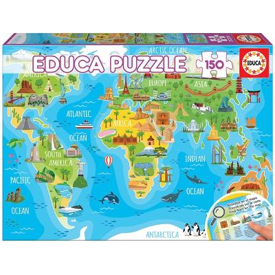 Puslespill World Map Monuments 150 Deler - Educa