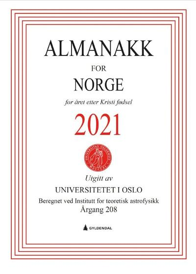 Almanakk for Norge 2021 - Universitetet i Oslo