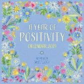 A Year of Positivity by Rebecca McCulloch Wall Calendar 2021 (Art Calendar) - Flame Tree Studio