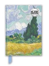Vincent van Gogh: Wheat Field with Cypresses (Foiled Blank Journal) - Flame Tree Studio