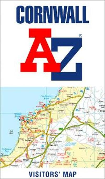 Cornwall A-Z Visitors' Map - A-Z maps