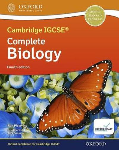 Cambridge IGCSE (R) & O Level Complete Biology: Student Book Fourth Edition - Ron Pickering