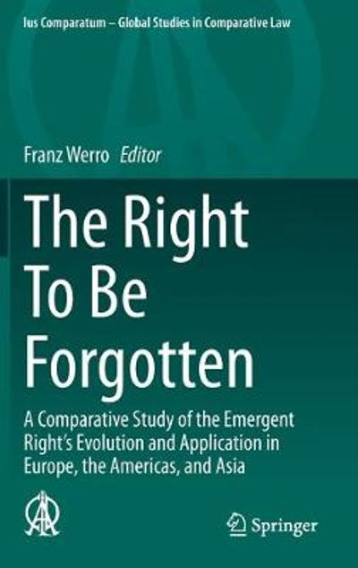 The Right To Be Forgotten - Franz Werro